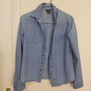 Sweaters - RUE 21 Blue button up